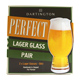 Dartington Crystal Perfect LAGER Glass (Pair)