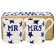 Emma Bridgewater Blue Star MR & MRS Set of Two…