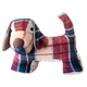 McCaw Allan Tweed Dog Shaped Door Stopper in RED